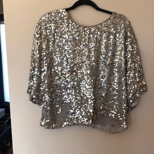 Vince sequin top with low back